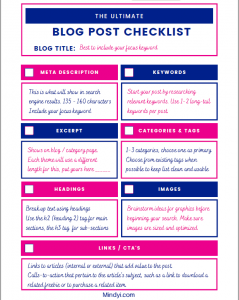 Blog Post Checklist Image