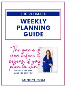 Weekly Planning Guide Cover - Mindy Iannelli